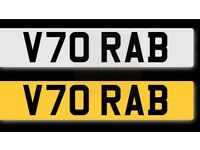 """Private plate for """"RAB"""""""