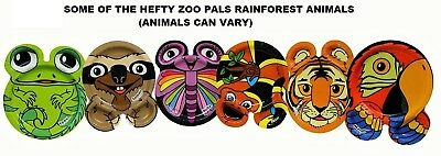 Hefty Zoo Pals Rainforest Plates 1 package of 20 Plates 7.375 inch Discontinued
