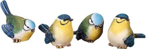 Set of 4 Different Resin Mini-Bird Figurines--Each has a Slightly Different Pose