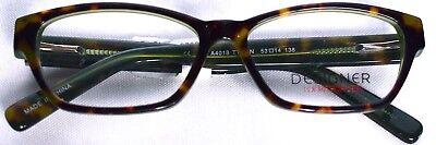 DESIGNER LOOKS FOR LESS Eyeglass Frames WF-DLFL4018 Tortoise/Grn 53-14-138 >NEW