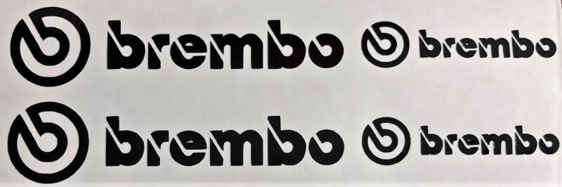 4 Brembo Decals Stickers Vinyl Caliper Brake Metallic Silver Heat Resistant
