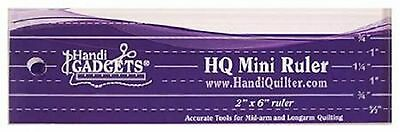 Handi Quilter Mini Ruler 2 x 6 for Mid-Arm & Longarm Quilting Machine