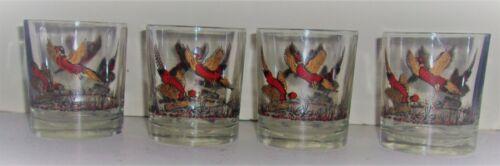 4 Vintage Rocks Glasses Pheasant Designs Hazel Atlas?