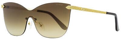 Guess Shield Sunglasses GU7549 32G Gold/Black 0mm (Guess Shield Sunglasses)