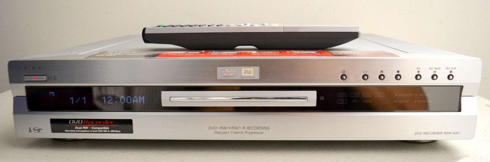SONY RDR-GX7 DVD Recorder (Silver) - Made in Japan