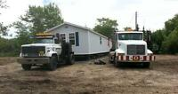 MOBILE HOME HAULING CRANE RENTAL AND MORE
