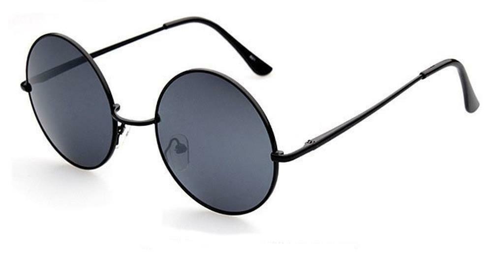 Sonnenbrille Unisex Rund Hippie Brille John Lennon getönt 400UV langer Steg