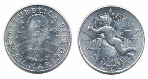 San Marino 2000 10 Lire Uncirculated (KM399)