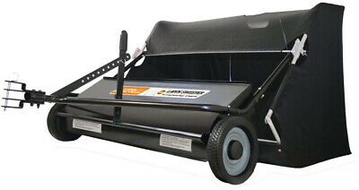Lawn Sweeper Tow Behind 42 Inch 22 Cubic Foot Tractor Mower Attachment Hopper ()