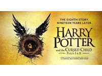 2x Tickets for Harry Potter and the cursed child - both parts - 3rd June 2017 - Amazing Seats