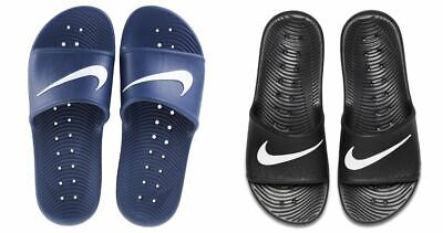 Nike Mens Kawa Shower Sliders Beach Sandals Flip Flops Black/Navy
