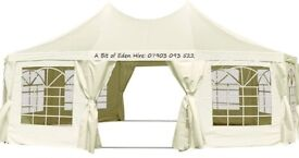 Pop-up Gazebo/ Marquee Tent Hire from £40 + Tables & Chairs Hire, also Patio Heaters & LED Lights