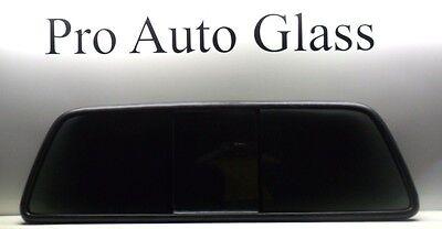 1999-07 Ford F-250-750 Rear Power Sliding Back Glass Window W FORD LOGO NO MOTOR