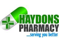 ***Full Time Pharmacy/Counter Assistant Required in SW19 ***