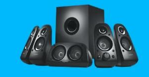 Logitech Z506 Surround Sound Speakers - 5.1 Speaker System - 150W Max - 75W RMS - 45 Hz - 20 kHz - iPod Supported - 980-