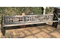 Large 9ft Gothic Church Pew