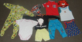 Baby boy girl unisex hats vests trousers bottoms clothes bundle job lot 12-18 months 1.5-2 years