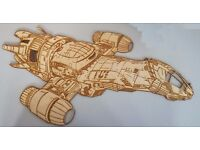 Firefly Serenity Wooden Wall Hanging 70 cm x 35 cm
