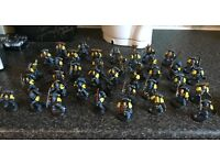Warhammer 40k and Lord of the Rings miniatures for sale. Space wolves army and Evil forces army.
