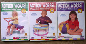ACTION Words DVDs Volumes 1 to 3 by Baby Bumble Bee