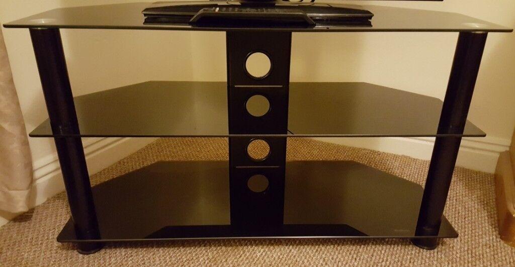 low priced f934c b52bb Argos Home Matrix Glass Corner TV Unit - Black & Chrome | in Darlington,  County Durham | Gumtree
