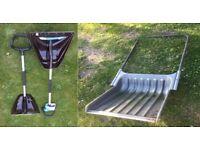 2 X Powerblade shovel shatter resistant polycarbonate blade horse manure grain larry trailer snow