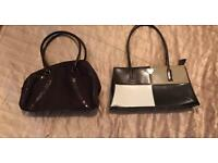 Two hand bags - Left is marks and Spencer and right is Prada -