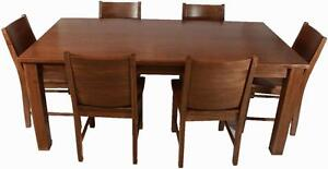 Mennonite made solid wood dining table set