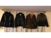 Variety of men's coats and jackets