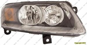 Head Lamp Driver Side Halogen High Quality Audi A6 2009-2011