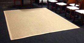 "Seagrass Rug with natural caramel borders 96"" (8 ft) x 120"" (10 ft)"
