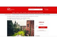Virgin Experience Days One Night Gourmet Break for Two at Ruthin Castle