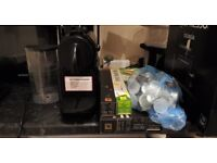 Magimix Nespresso machine, boxed with assorted capsules included
