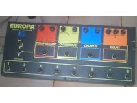 Guitar effect pedal ( rare and retro ) europa dp 400c guitar pedal made in france