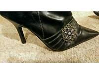 Gorgeous Black Boots Size 36