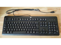 BRAND NEW HP USB Keyboard, BRAND NEW Microsoft wireless keyboard and mouse