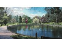 Mid day dream at Christ Church Park, Ipswich (original oil painting fresh off Canvas for sale)