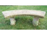 (#696) concrete garden bench (Pick up only, Dy4 area)