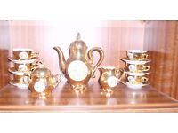 Vintage Bondware Gold Lustre Coffee fine china set Best Porcelain