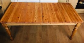 Big wooden table