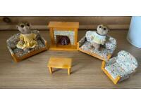 Sylvanian family Meerkat lounge set