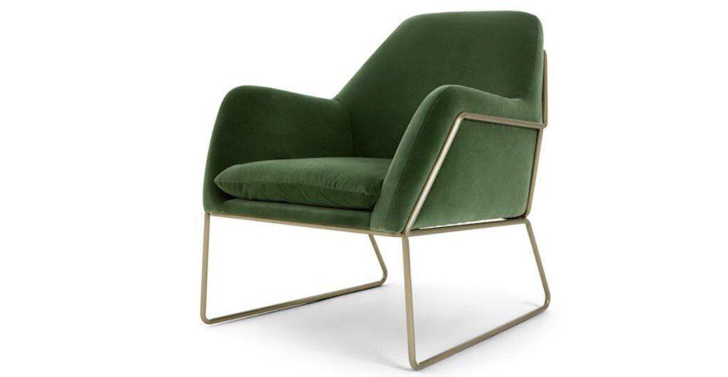 Made Green Velvet Armchair In Central London London