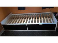 IKEA Single FLAXA bed with storage drawers - £60