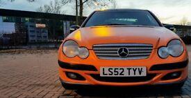2003 Mercedes C220 Couple Matt Orange SE W203 Spares or Repairs