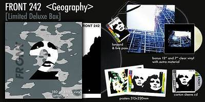 "FRONT 242 Geography (Deluxe Anniversary Box) 2LP+7"" VINYL+CD LTD.1242"