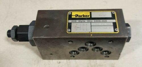 Parker Prm3PP07SNS 51 Hydraulic Reducing Pressure Relief Valve