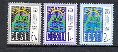 ESTONIA MNH 1993 SG211-213 75TH ANV OF REPUBLIC