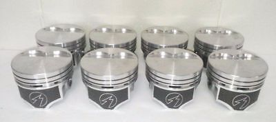 Ford Pistons Moly Rings (Ford 289 302 Speed Pro Hypereutectic w/moly rings Flat Top 2VR Pistons Set/8)