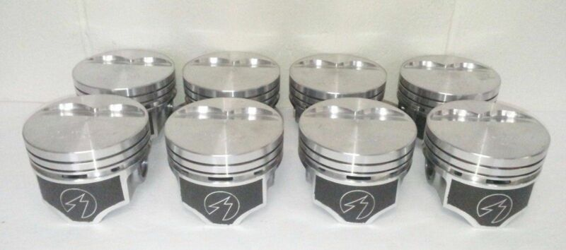 SPEED PRO Ford 289 302 Flat Top Hypereutectic Pistons+MOLY Rings 9.0:1 20
