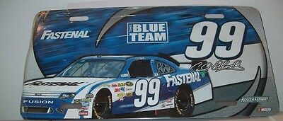 Carl Edwards Fastenal The Blue Team 99 Metal License Plate Brand New